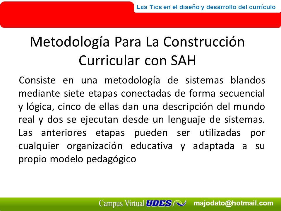 Metodología Para La Construcción Curricular con SAH