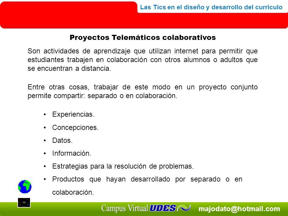 Proyectos Telemáticos colaborativos