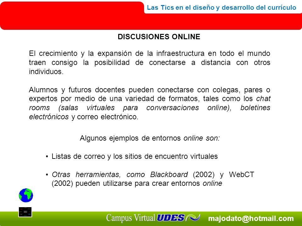 Algunos ejemplos de entornos online son: