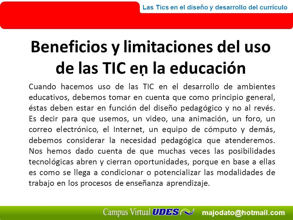 Beneficios y limitaciones del uso de las TIC en la educación