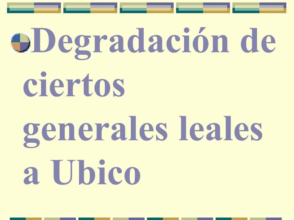 Degradación de ciertos generales leales a Ubico