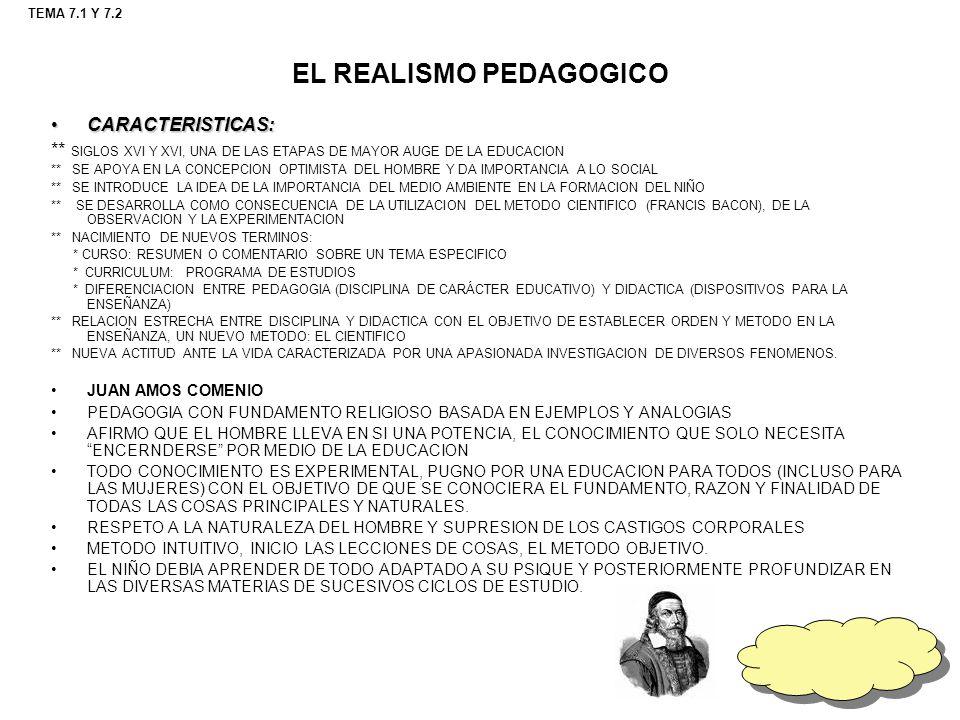 EL REALISMO PEDAGOGICO