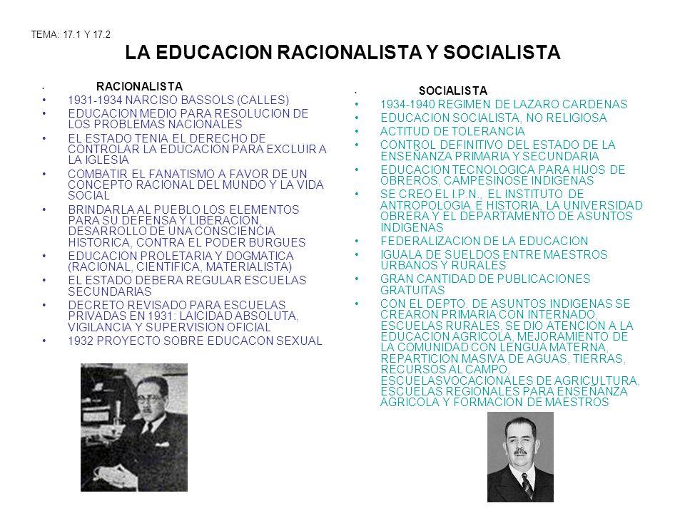 LA EDUCACION RACIONALISTA Y SOCIALISTA