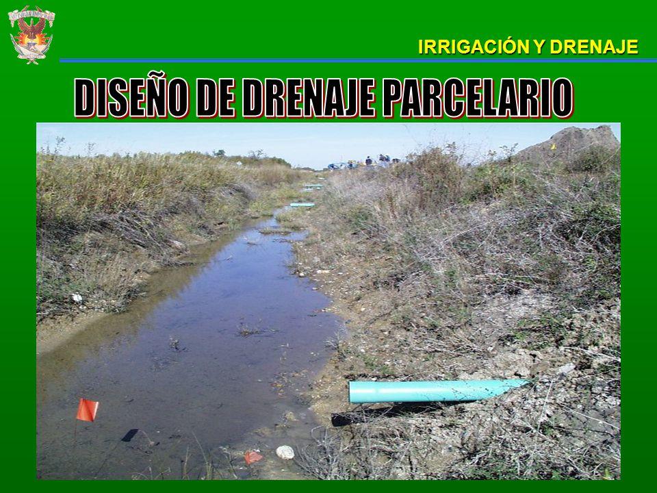 DISEÑO DE DRENAJE PARCELARIO