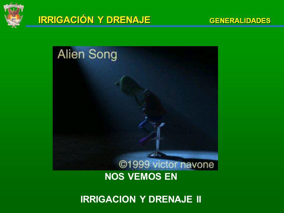 IRRIGACION Y DRENAJE II