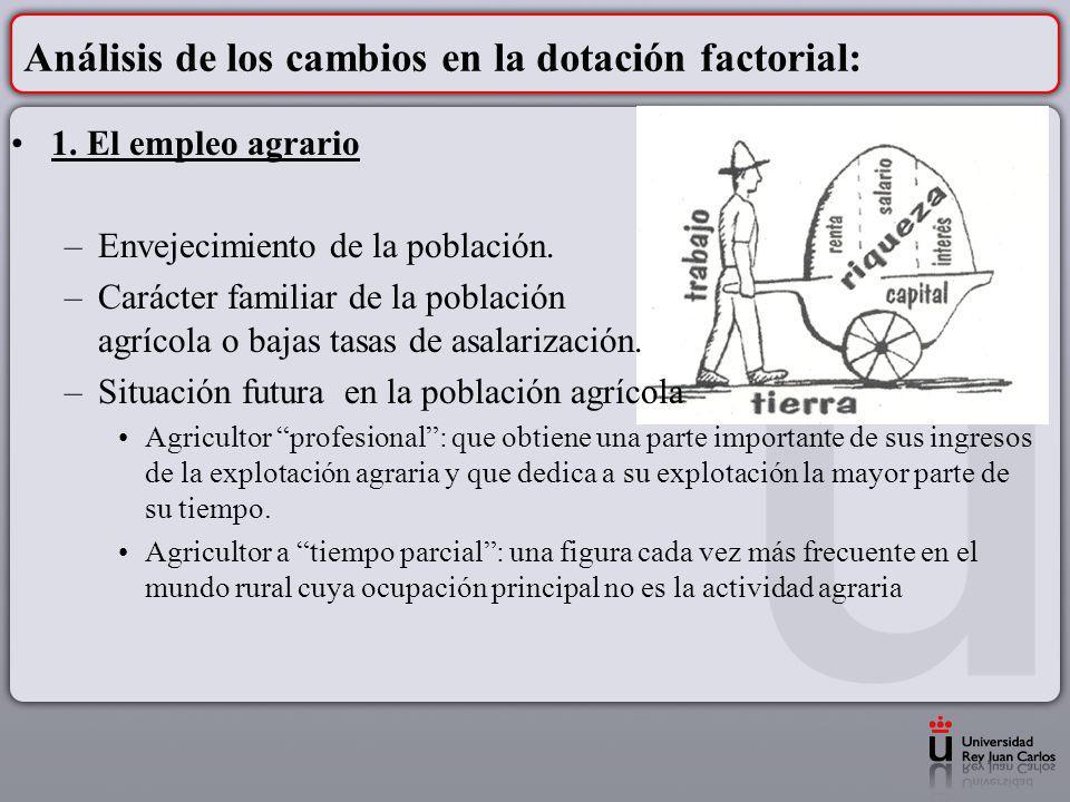 Análisis de los cambios en la dotación factorial:
