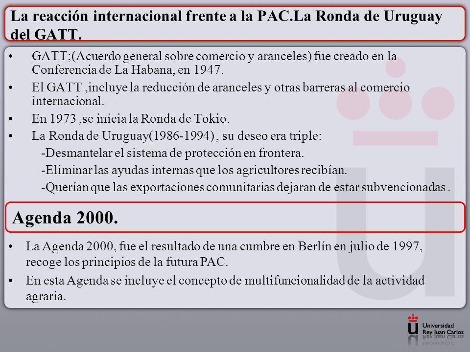 La reacción internacional frente a la PAC.La Ronda de Uruguay del GATT.