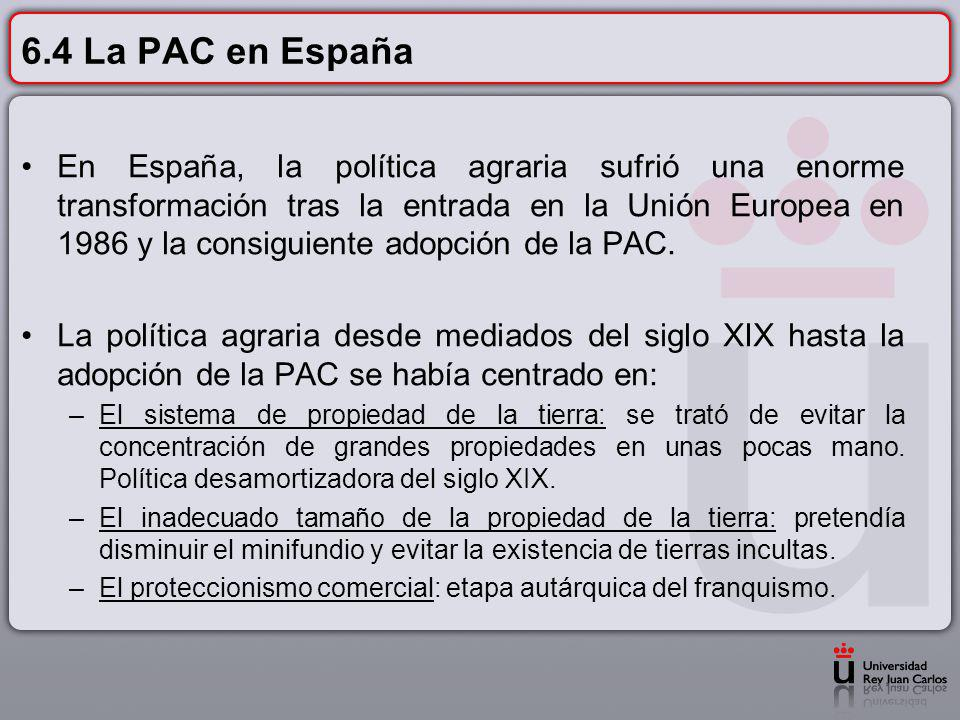 6.4 La PAC en España