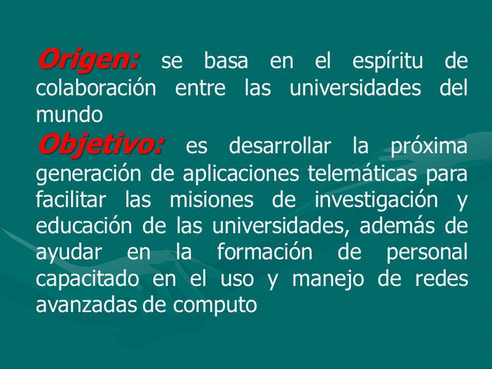 Origen: se basa en el espíritu de colaboración entre las universidades del mundo