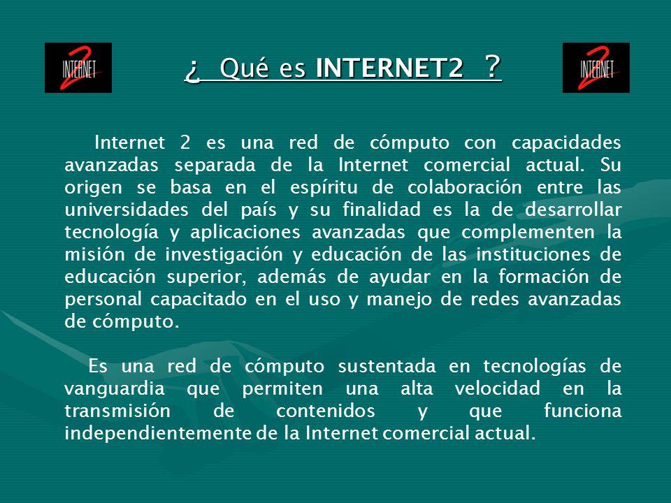¿ Qué es INTERNET2
