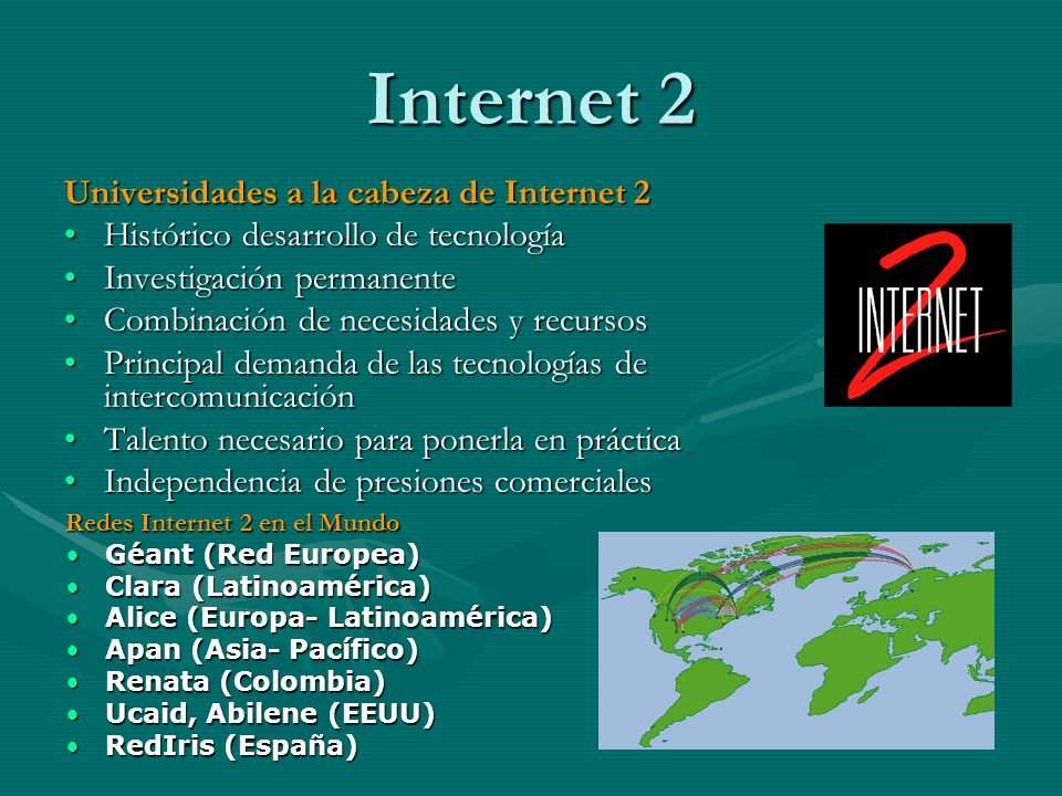 Internet 2 Universidades a la cabeza de Internet 2