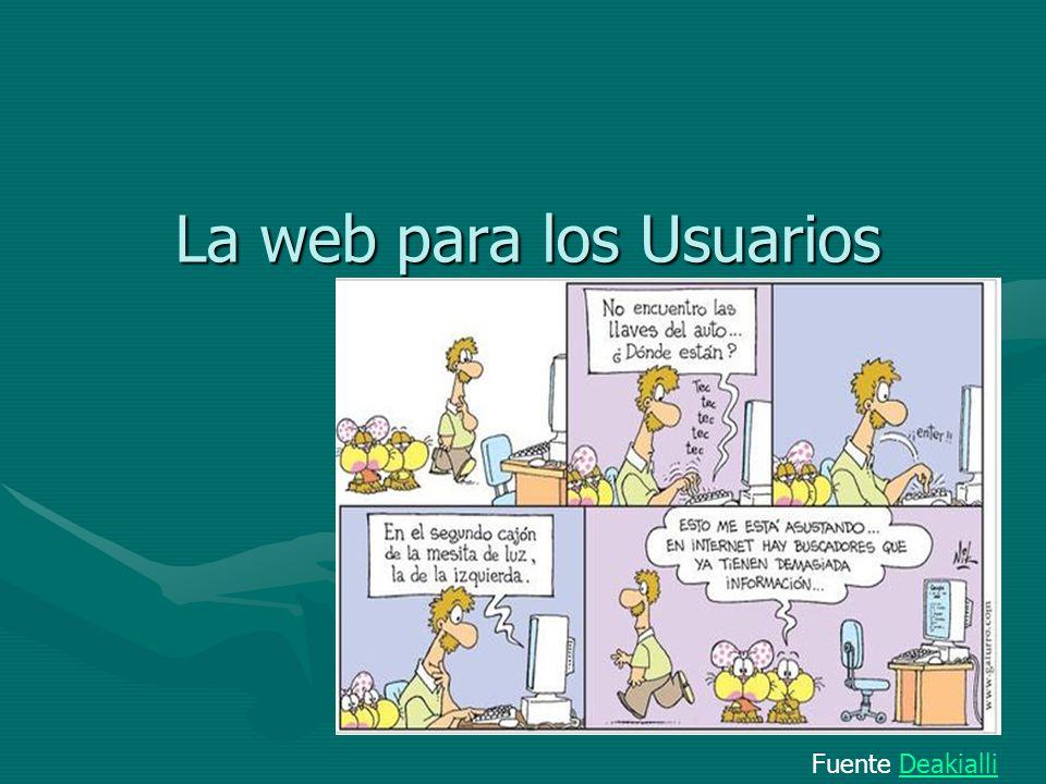 La web para los Usuarios