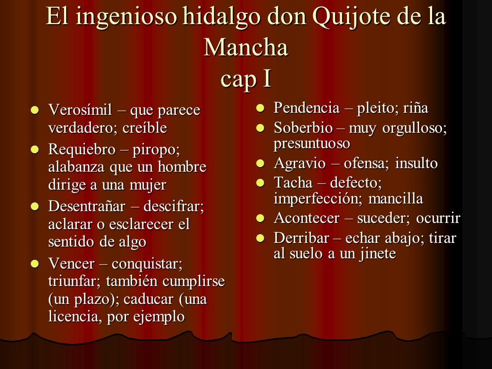 El ingenioso hidalgo don Quijote de la Mancha cap I