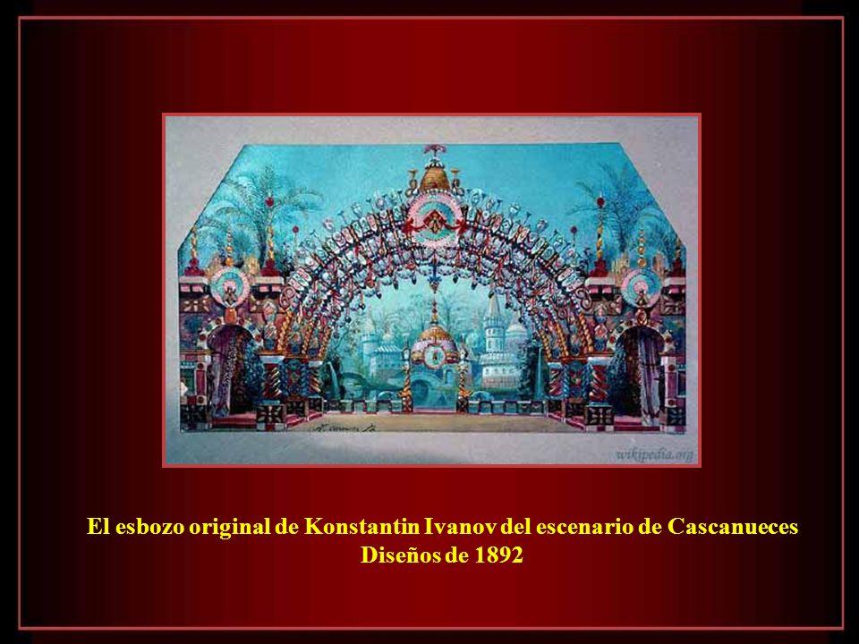 El esbozo original de Konstantin Ivanov del escenario de Cascanueces
