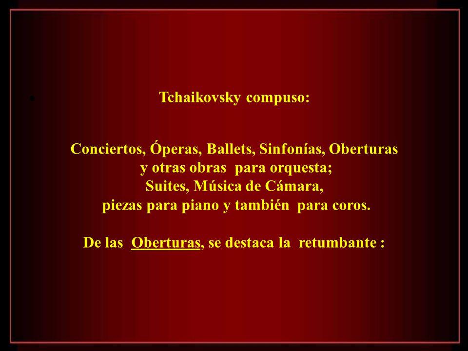 Conciertos, Óperas, Ballets, Sinfonías, Oberturas