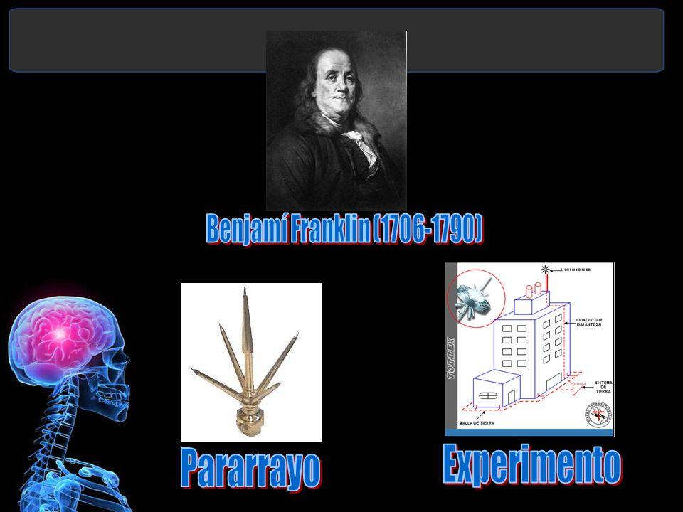 Benjamí Franklin (1706-1790) Pararrayo Experimento