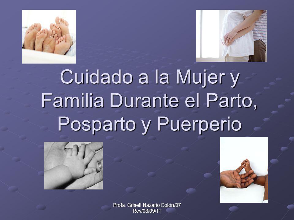 Cuidado a la Mujer y Familia Durante el Parto, Posparto y Puerperio