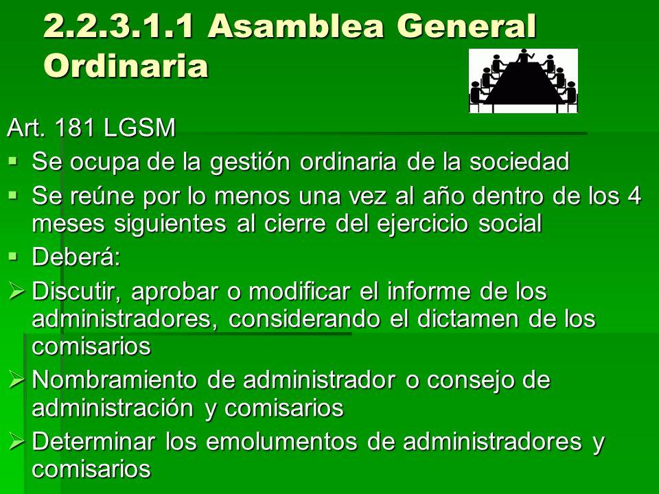 2.2.3.1.1 Asamblea General Ordinaria