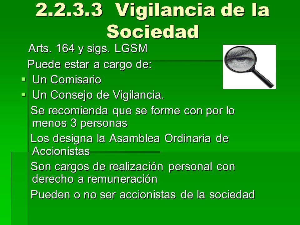 2.2.3.3 Vigilancia de la Sociedad