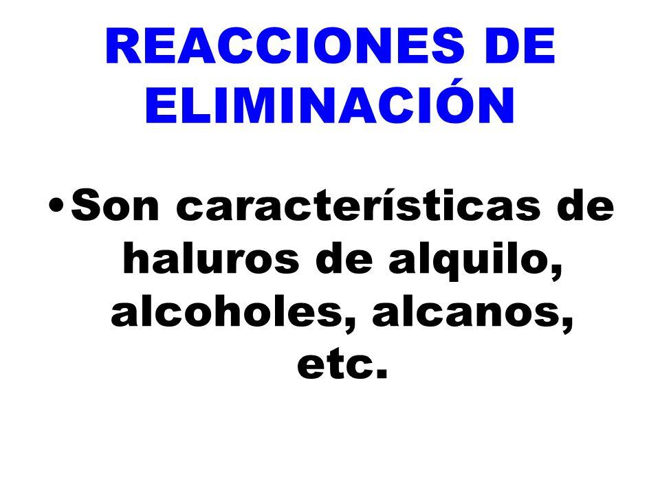 REACCIONES DE ELIMINACIÓN