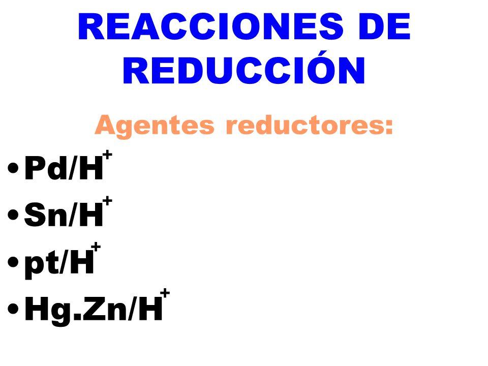 REACCIONES DE REDUCCIÓN