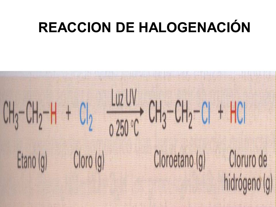 REACCION DE HALOGENACIÓN
