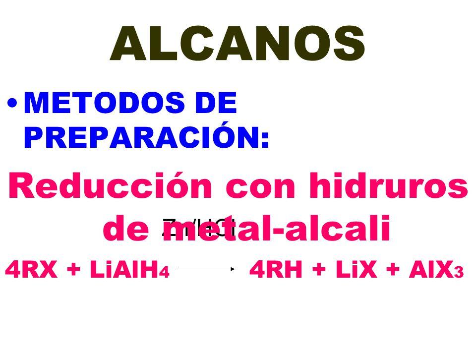 Reducción con hidruros de metal-alcali