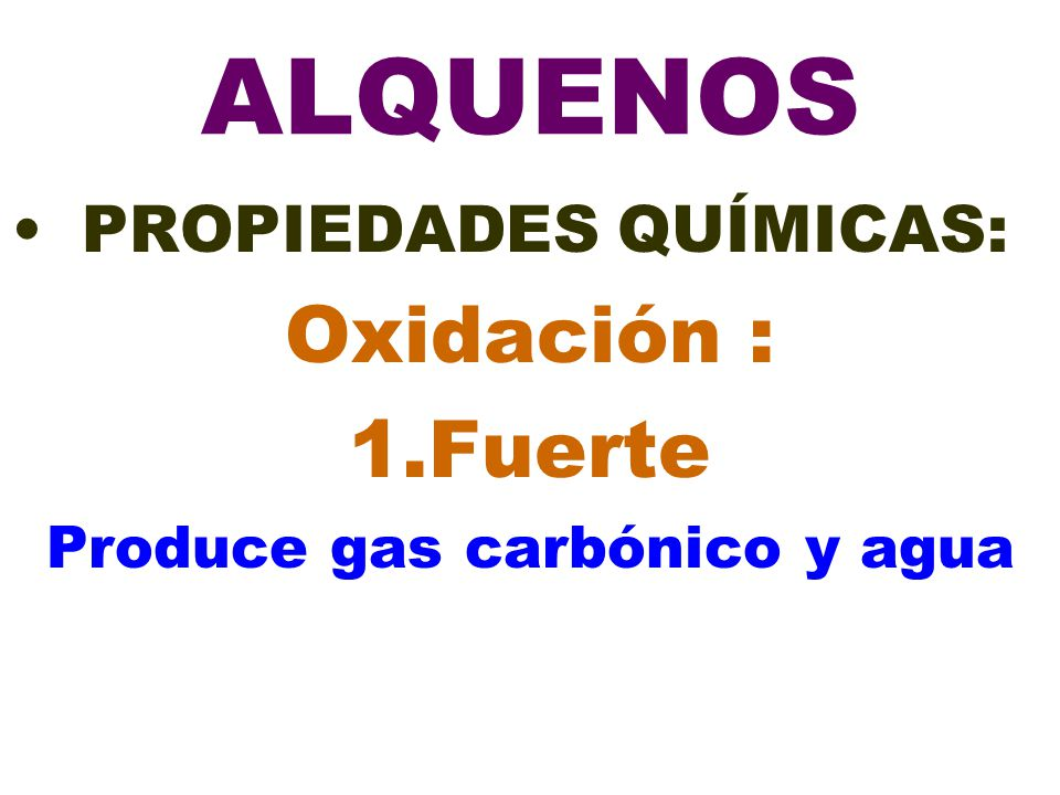 Produce gas carbónico y agua