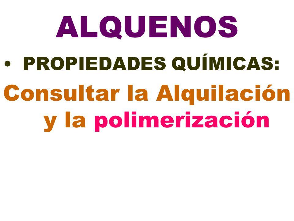 Consultar la Alquilación y la polimerización