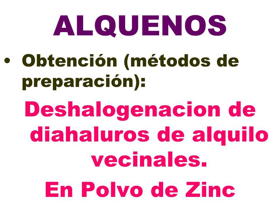 Deshalogenacion de diahaluros de alquilo vecinales.