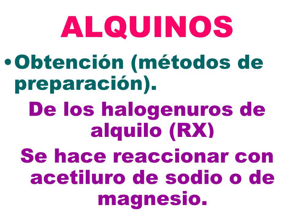 ALQUINOS Obtención (métodos de preparación).