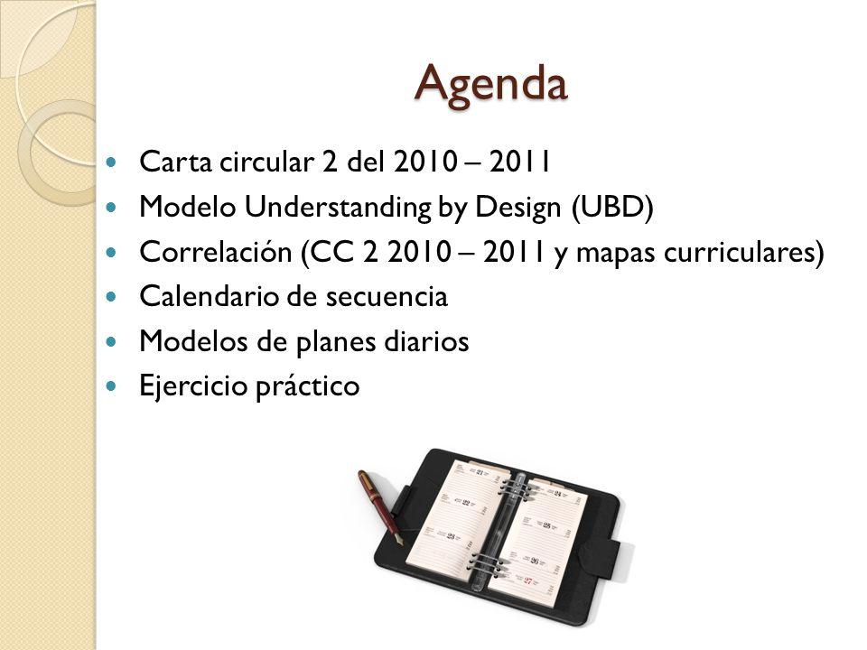 Agenda Carta circular 2 del 2010 – 2011