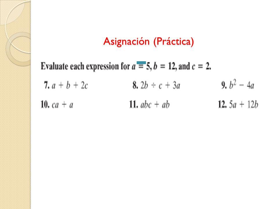 Asignación (Práctica)