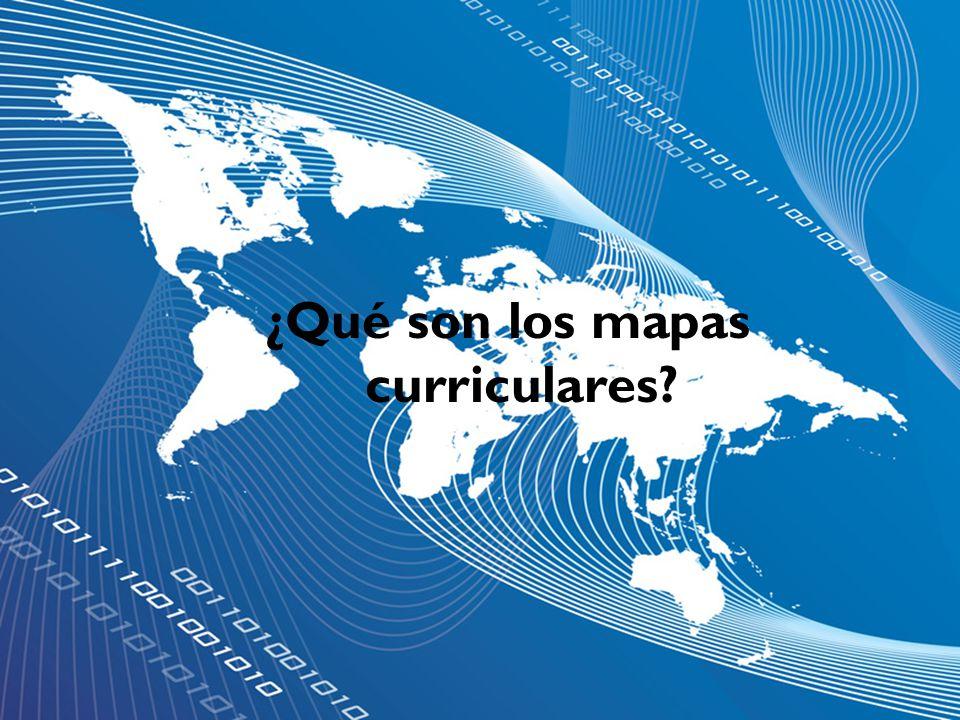 ¿Qué son los mapas curriculares