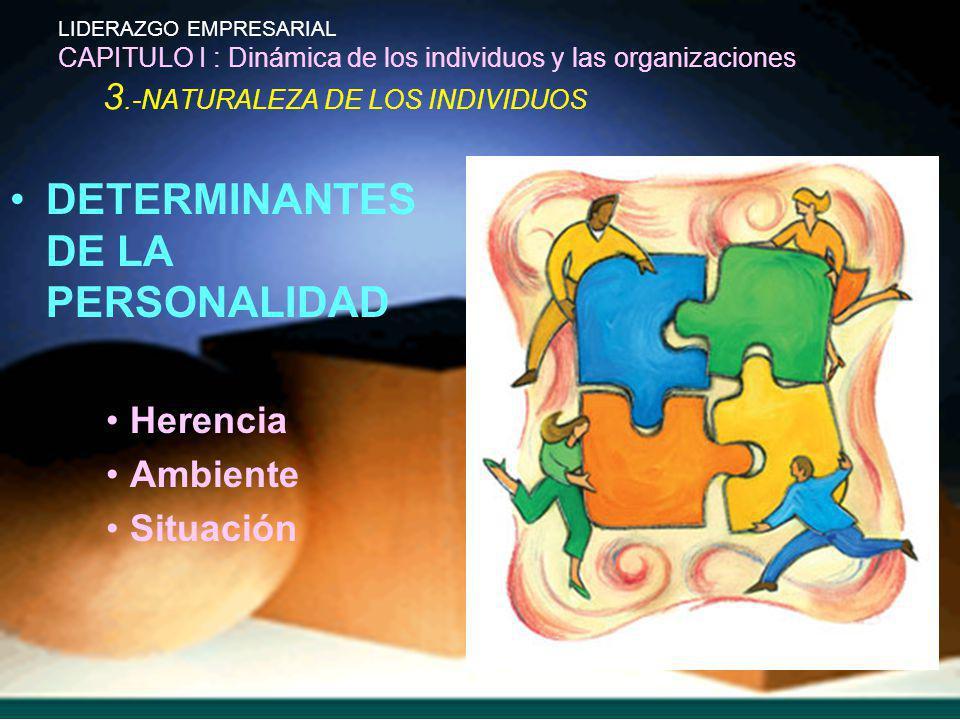 DETERMINANTES DE LA PERSONALIDAD