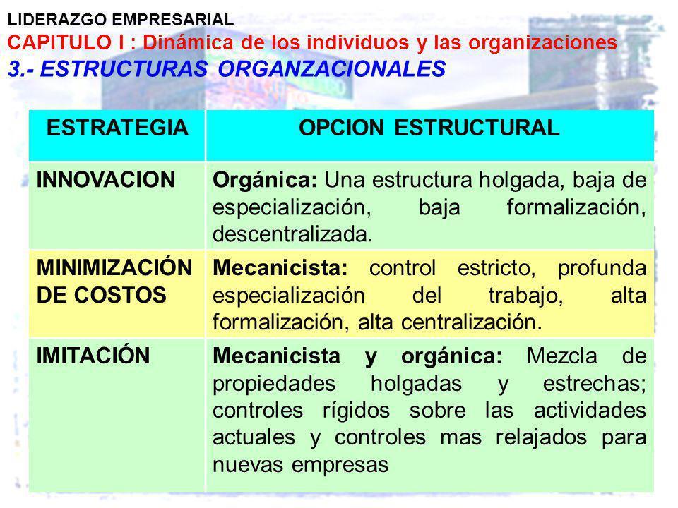 ESTRATEGIA OPCION ESTRUCTURAL