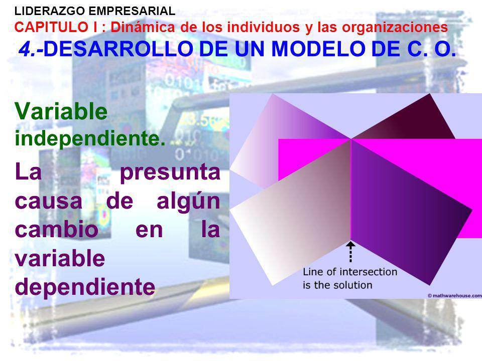 Variable independiente.
