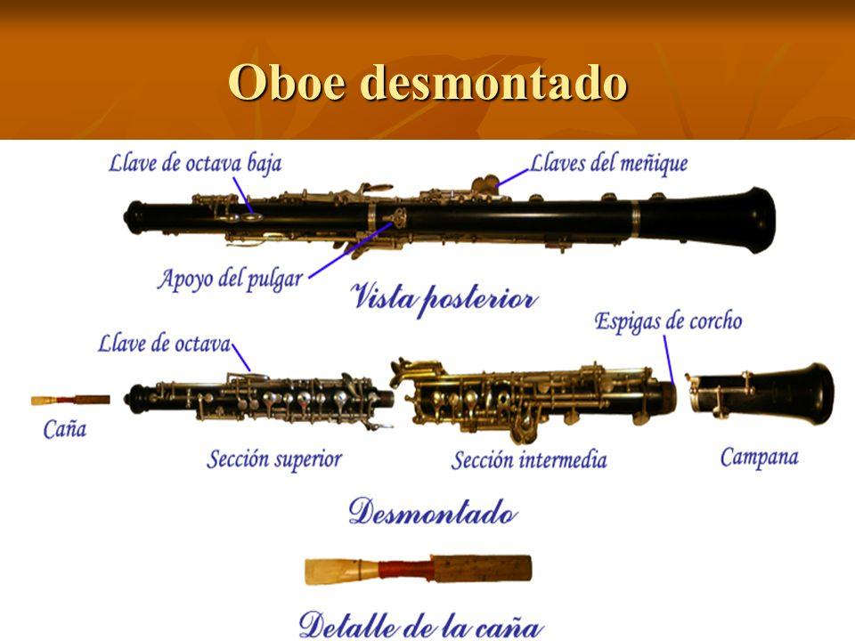Oboe desmontado