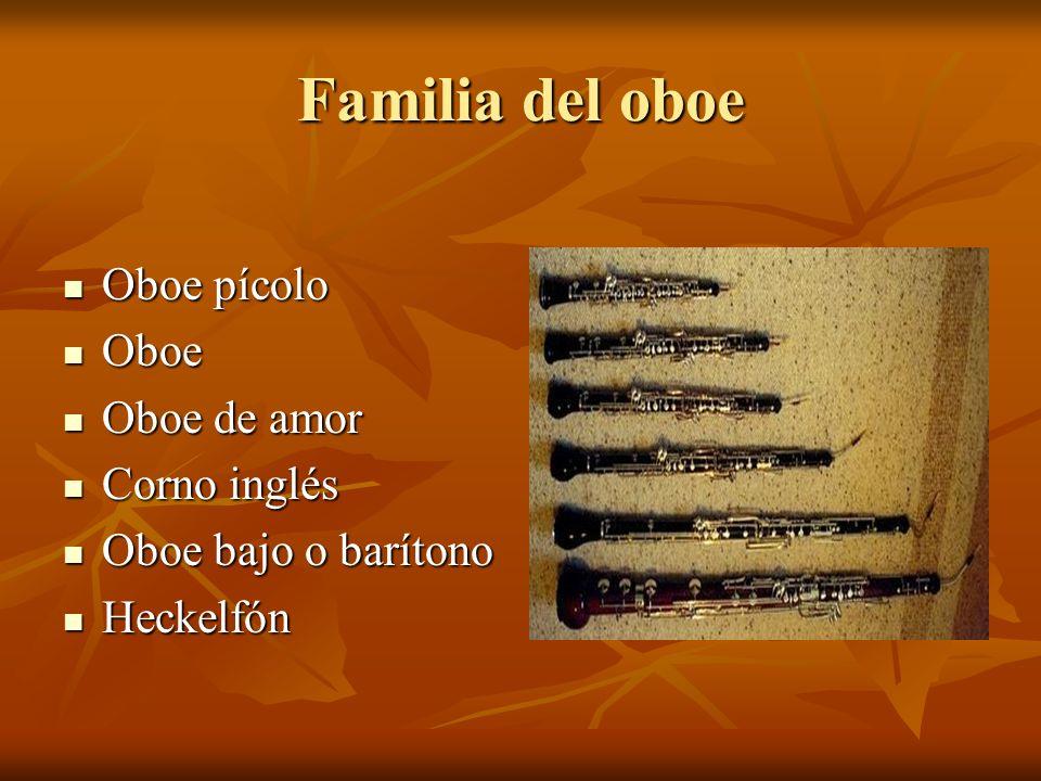 Familia del oboe Oboe pícolo Oboe Oboe de amor Corno inglés
