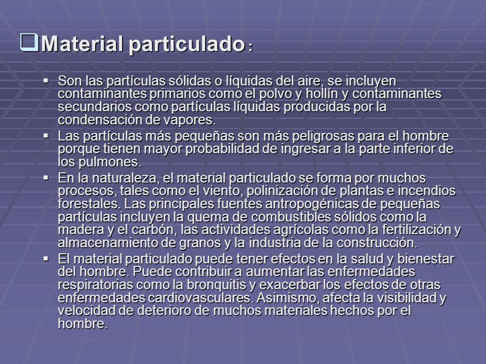 Material particulado :