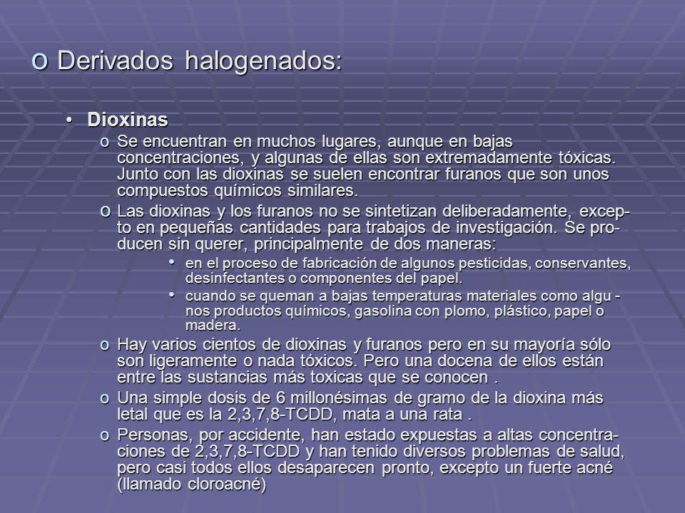 Derivados halogenados: