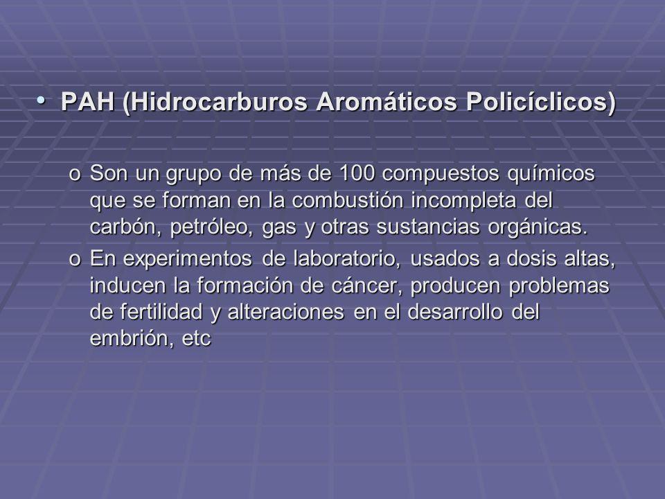 PAH (Hidrocarburos Aromáticos Policíclicos)