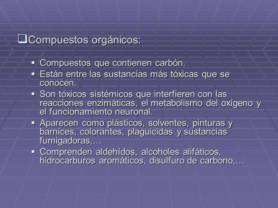 Compuestos orgánicos: