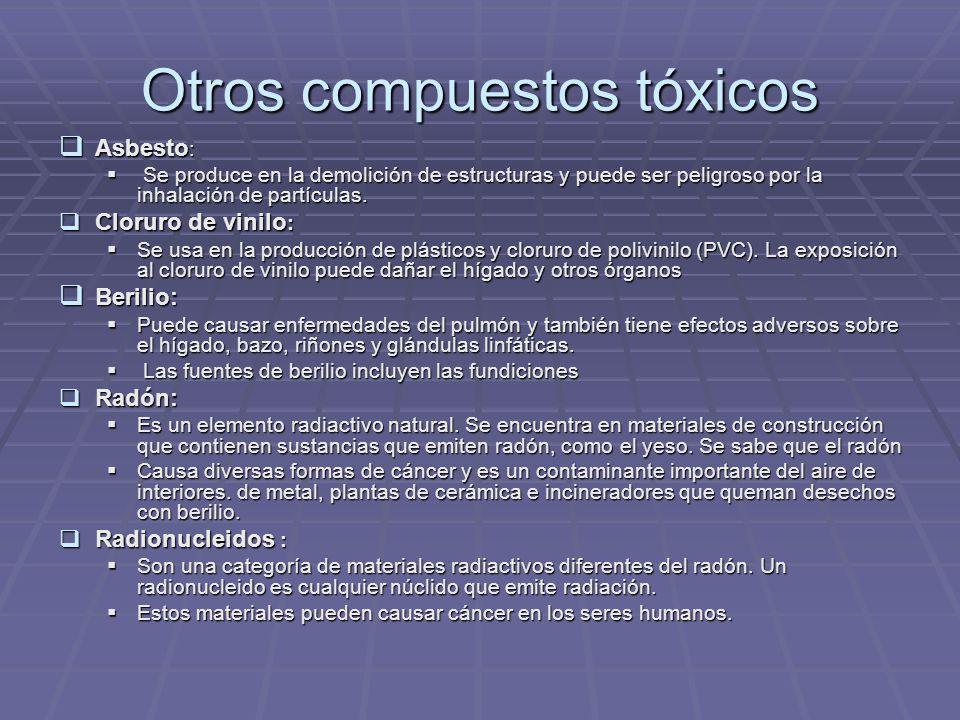 Otros compuestos tóxicos