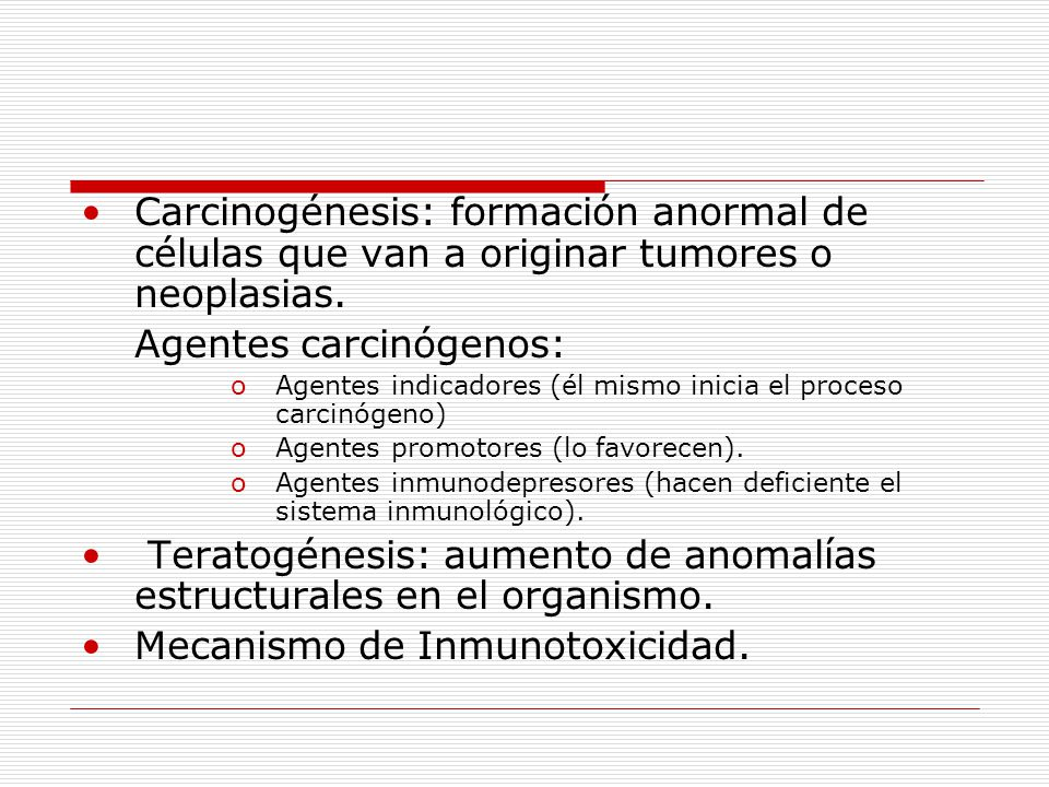 Agentes carcinógenos: