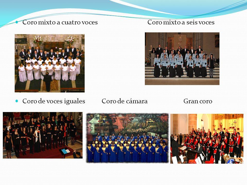 Coro mixto a cuatro voces Coro mixto a seis voces