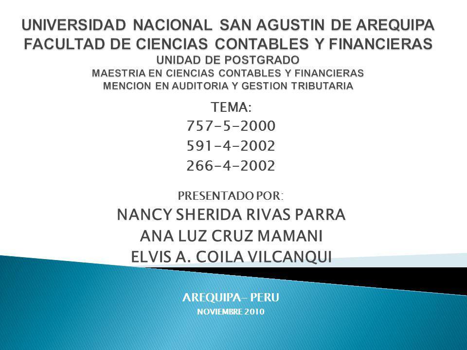 NANCY SHERIDA RIVAS PARRA ELVIS A. COILA VILCANQUI