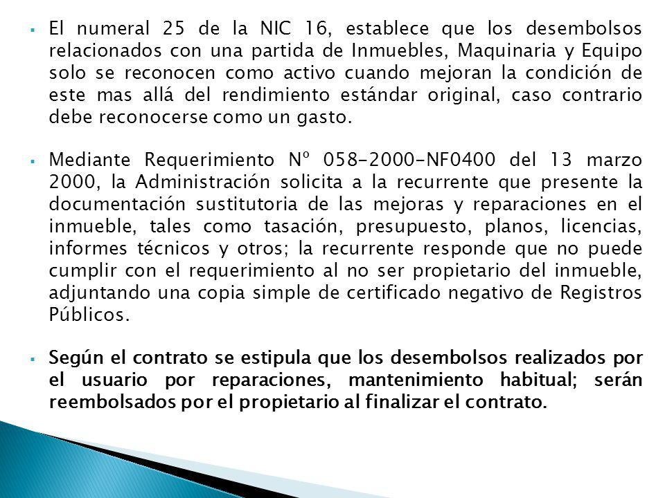 El numeral 25 de la NIC 16, establece que los desembolsos relacionados con una partida de Inmuebles, Maquinaria y Equipo solo se reconocen como activo cuando mejoran la condición de este mas allá del rendimiento estándar original, caso contrario debe reconocerse como un gasto.