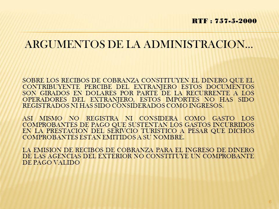 ARGUMENTOS DE LA ADMINISTRACION…