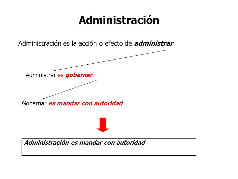 Administración Administración es la acción o efecto de administrar